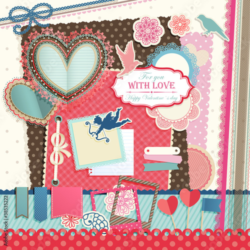 Wall mural Valentine`s Day