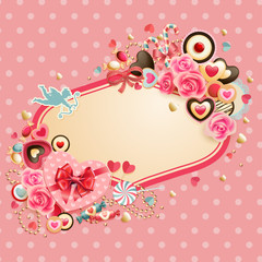 Wall Mural - Valentine`s Day card