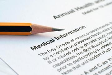 Fototapeta Medical record obraz