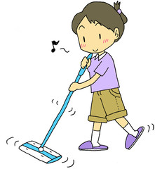 床掃除女性