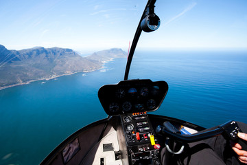 Foto op Canvas Helicopter beautiful Cape Town coastal aerial view from helicopter