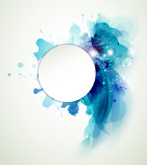 Fototapete - Abstract  background with blue elements