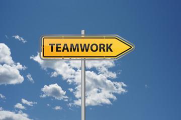 Wegweiser - Teamwork
