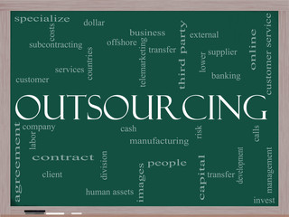 Outsourcing word cloud on blackboard