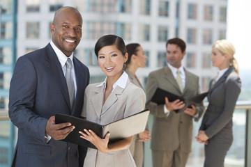 Interracial Men & Women City Business Team