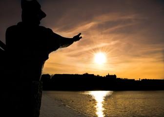 sunrise over stockholm