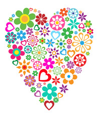 Valentines day - colorful cute vector heart