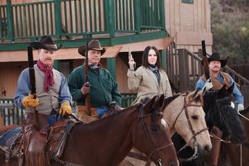 Western Vigilantes on Horseback