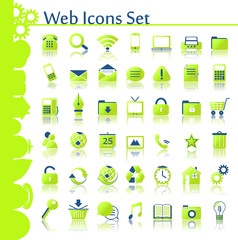 web icons set g-b
