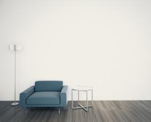 Minimal modern comfortable interior armchair, 3d image.