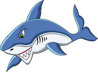 funny shark cartoon