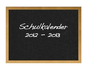 School calendar in german.