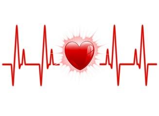 Amore Cuore Elettrocardiogramma-Love Heart Electrocardiogram
