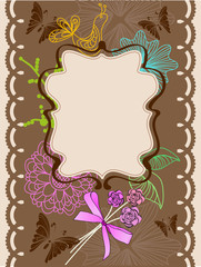 Floral card for holiday