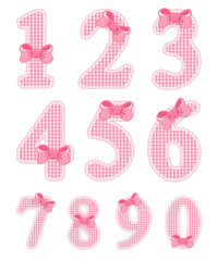 Baby girl numeral set