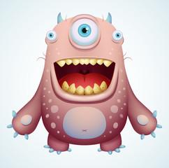 Poster de jardin Creatures Happy Monster