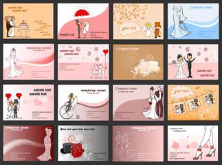 Набор свадьба фоны для вашего дизайна, векторная