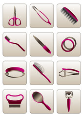 Hair and skin beauty cosmetic accessories