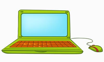 Cartoon Appliences Laptop
