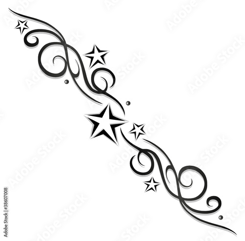tattoo tribal sterne stars logo black grey obraz w stockowych i plik w wektorowych. Black Bedroom Furniture Sets. Home Design Ideas
