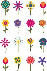 Retro Flowers 2