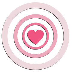 Target love heart of valentine