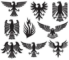 heraldic eagle set