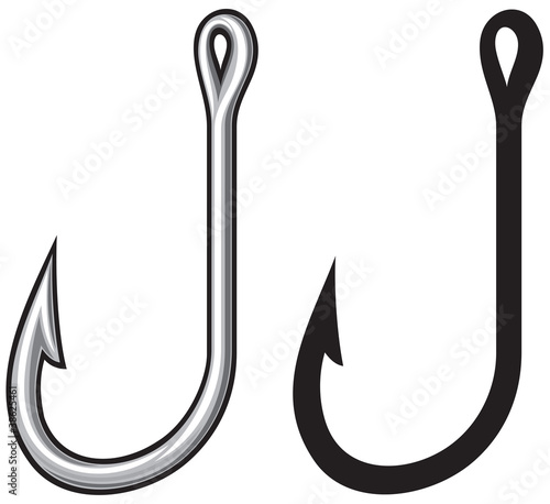 """""""Fishing hook"""" Stock image and royalty-free vector files ..."""