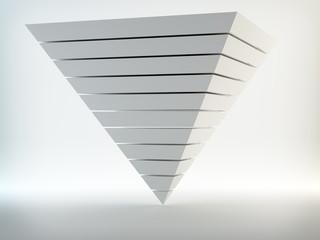 Abstract 3d pyramid