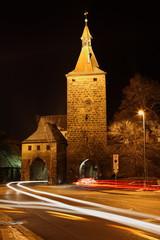 Nürnberger Tor in Neustadt Aisch bei Nacht