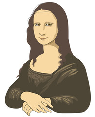 Smile of Mona Lisa