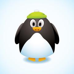 Cartoon penguin hat