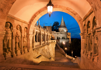 Keuken foto achterwand Boedapest The south gate of the Fisherman's Bastion in Budapest