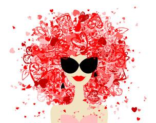 Poster Visage de femme Fashion woman portrait for your design