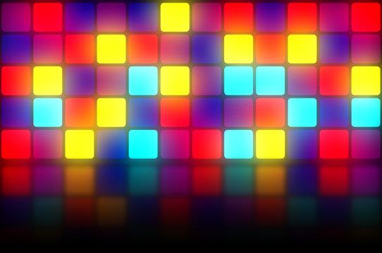Colorful retro dancefloor backdrop