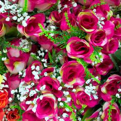 fake roses, floral background