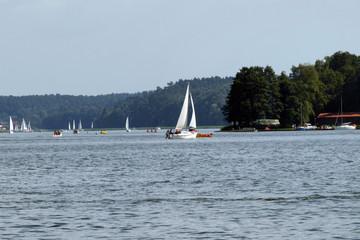 Yacht on Mikolajki Lake