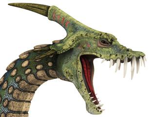 dinosaur anaconda head portrait