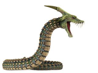 dinosaur anaconda attack side view