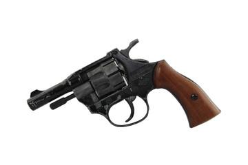 Alter Revolver Kaliber 22 mit Holzgriff