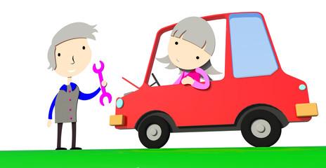 Automobile car repair
