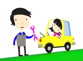 Automobile car repair