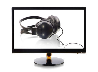 monitor with a headphones