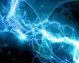 Blue fantasy fractal lightning