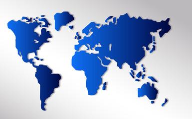 Poster Carte du monde abstrakte Weltkarte, World map