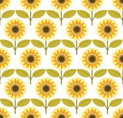 Sunflower background pattern vector