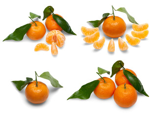 Tangerine fruits.