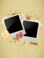 Photo frame on a grunge background