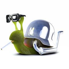 3d Snail Biker