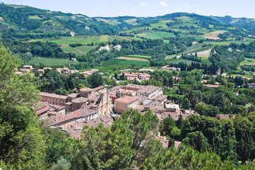 Panoramic view of Brisighella. Emilia-Romagna. Italy.